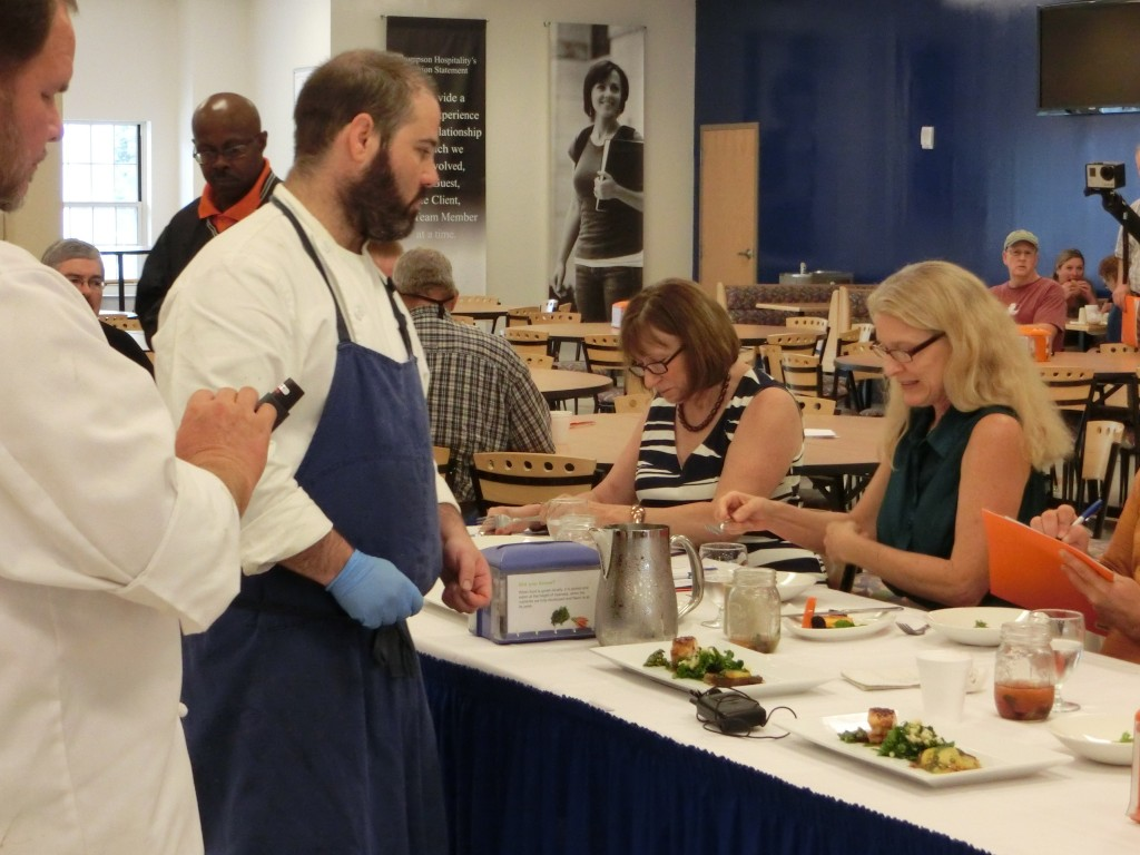 Mike Perry 2014 Iron Chef presents to the Judges